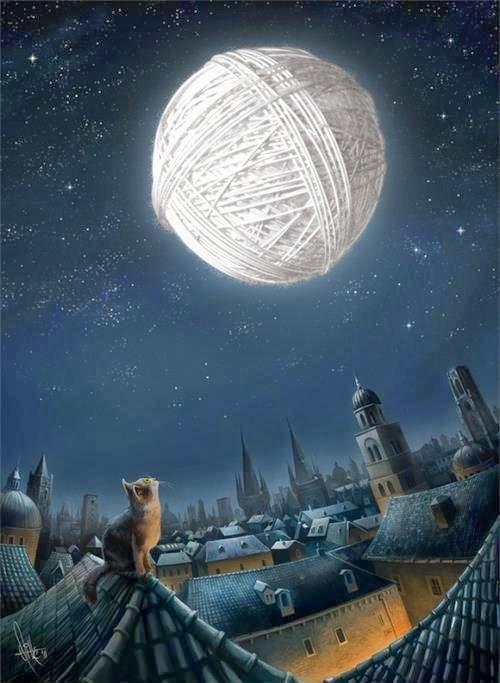 Månen den er stor og rund